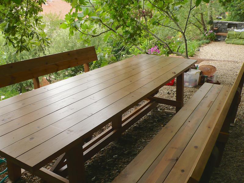 Ahşap Bahçe Masası