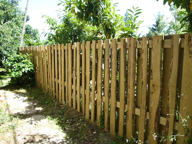 ahşap çit