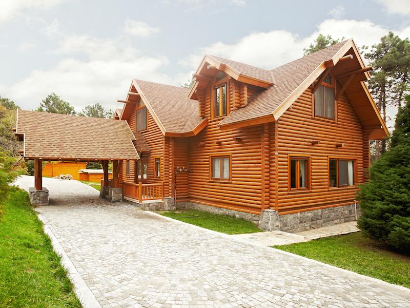 kütük ev log house