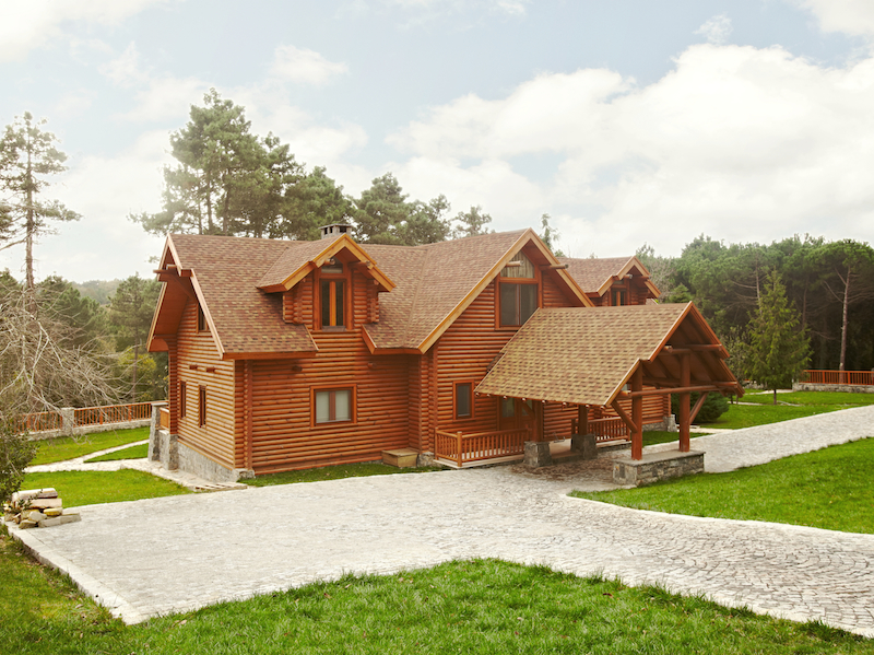 kütük ev log house